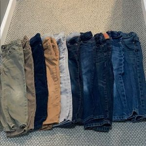 10 pairs of 4t boys pants.